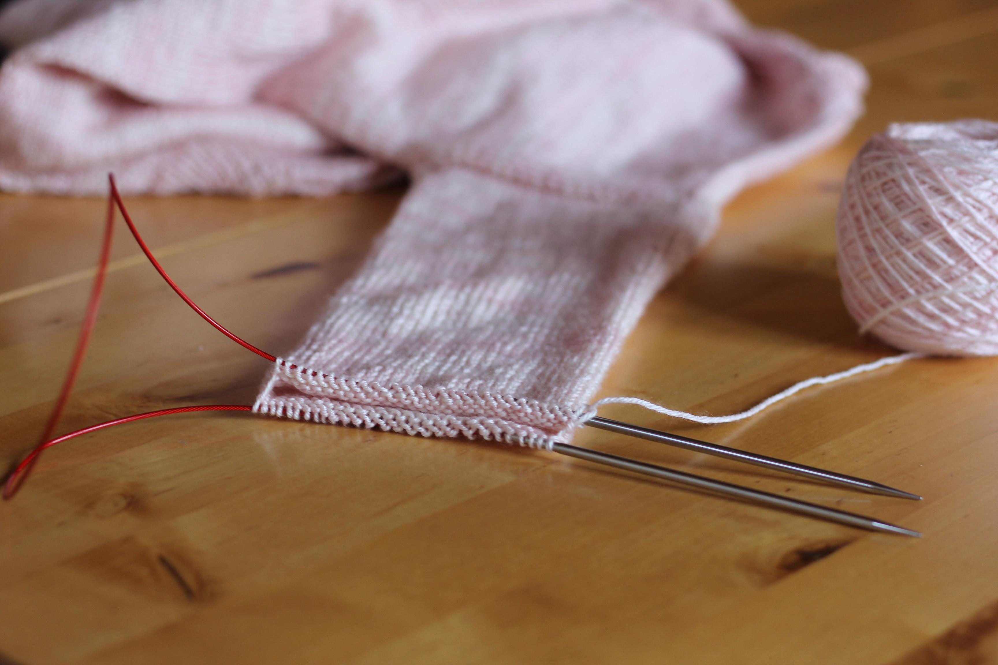 Apprendre à tricoter en rond - Magic Loop- Blog tricot