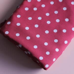 Tissu viscose à pois - Dancing polka framboise - Lise Tailor