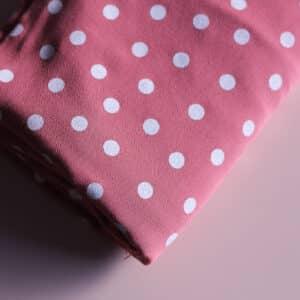 Tissu viscose à pois - Dancing polka rose - Lise Tailor