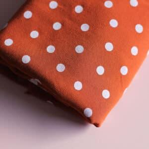 Tissu viscose à pois - Dancing polka caramel - Lise Tailor
