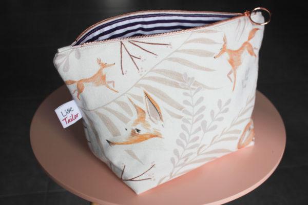 Kit de couture pochette zippée - Miss Renarde - Lise Tailor