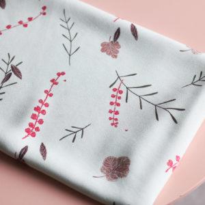 Tissu viscose - Falling flowers Céladon - Lise Tailor