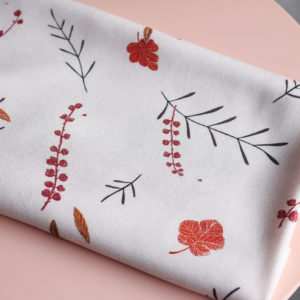 Tissu viscose - Falling flowers Rose - Lise Tailor