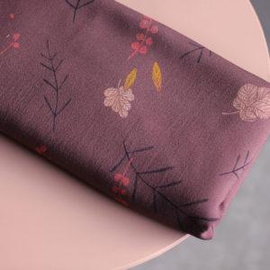 Tissu viscose - Falling flowers Violine - Lise Tailor
