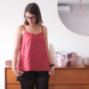 Top Narcisse - Anna Rose Pattern - Tissu Dancing Polka - Lise Tailor