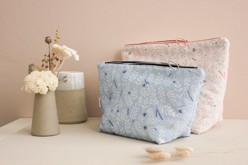 Kit de couture - Pochette zippée - sac à projet - Busy bee - Lise Tailor