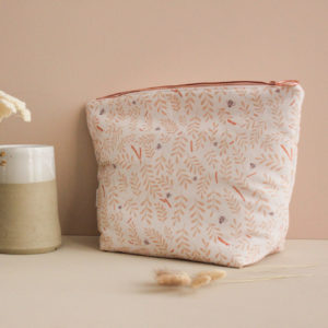 Kit de couture - Pochette zippée - sac à projet - Busy bee pêche - Lise Tailor