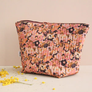 Kit de couture - Pochette zippée - sac à projet - In the pink meadow - Lise Tailor