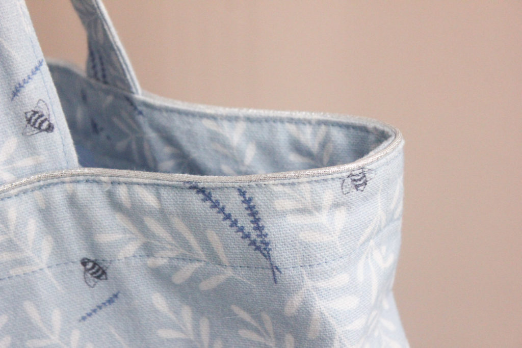 Kit de couture - Totebag Busy bee bleu - Lise Tailor