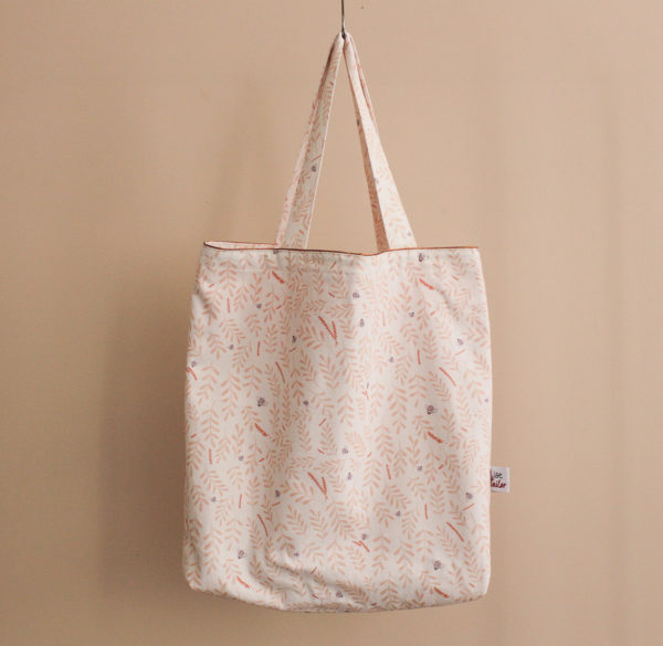 Kit de couture - Totebag Busy bee pêche - Lise Tailor