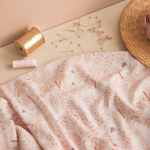 Tissu crêpe de viscose - Busy bee pêche - Lise Tailor