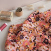 Tissu viscose plumetis - In the pink meadow - Lise Tailor